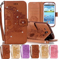 Diamond Wallet Case For Samsung Galaxy S3 Flip Leather Case Cover Samsung S3 Case Silicone Back