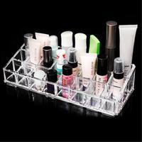 Nueva Caliente 24 Lipstick Sostenedor de la Exhibición Del Caso Del Maquillaje Del Organizador Cosmético de Acrílico Claro Soporte de Exhibición De Alta Calidad