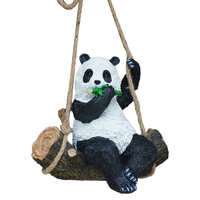 Animal Garden Statue Resin Cute Swing Panda Funny Outdoor Sculpture Ornaments Decor Figurines for Yard (Swinging Pose)