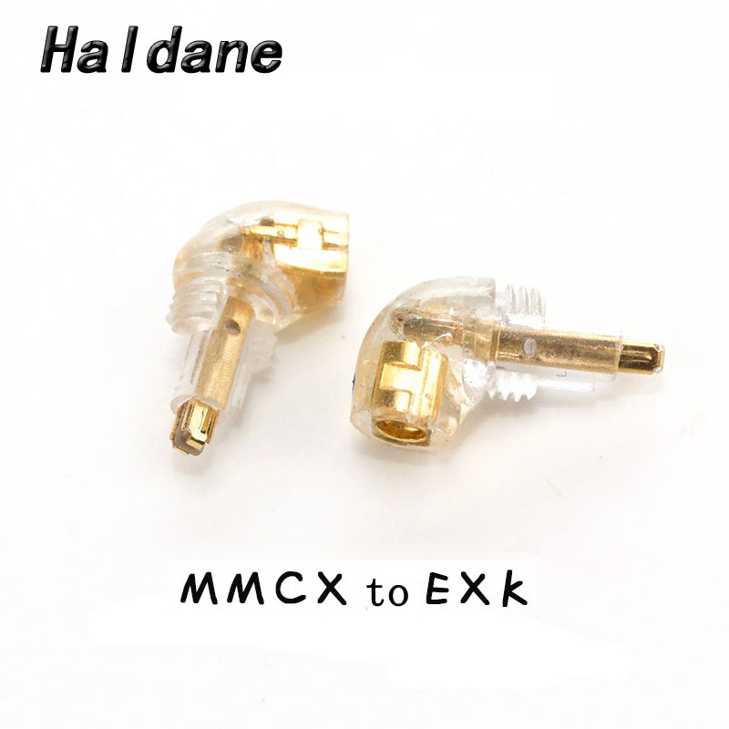 Free Shipping Haldane pair Headphone Plug for EX600 EX800 EXK EX1000 Male to MMCX 0 78mmFemale