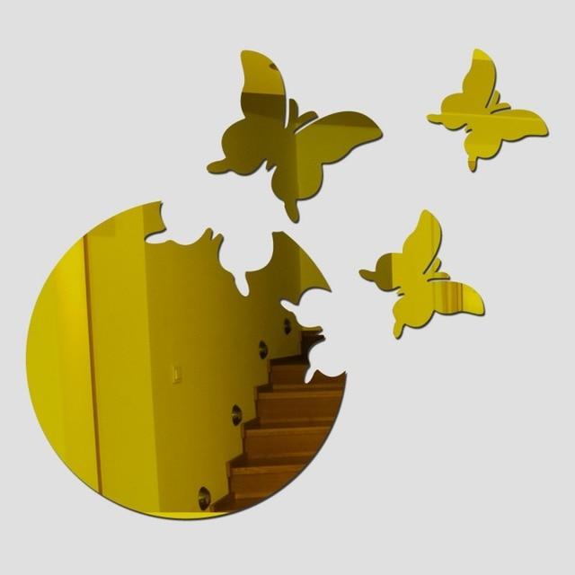 Crystal 4Pcs 3D Butterflies DIY home decor wall stickers decoration ...