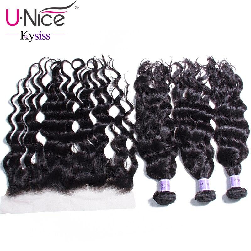 Unice Hair 8A Kysiss Series 100 Unprocessed Human Hair 4pcs lot Malaysian Virgin Natural Wave 3