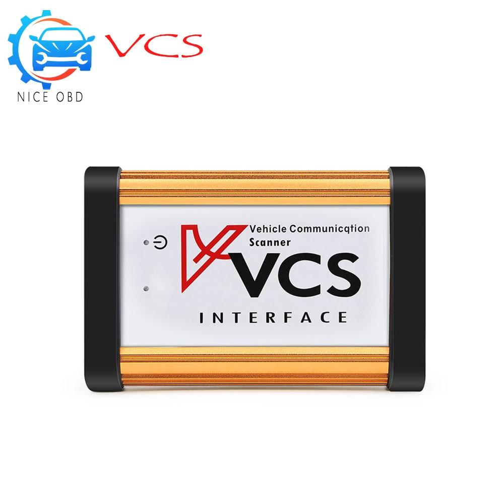 Цена за VCS Связь сканер V 1.5 с высокое качество авто Связь сканер Интерфейс VCS сканер инструмент лучше, чем TCS