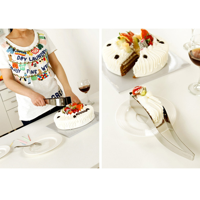 Cake slicer server stainless steel kitchen utensils