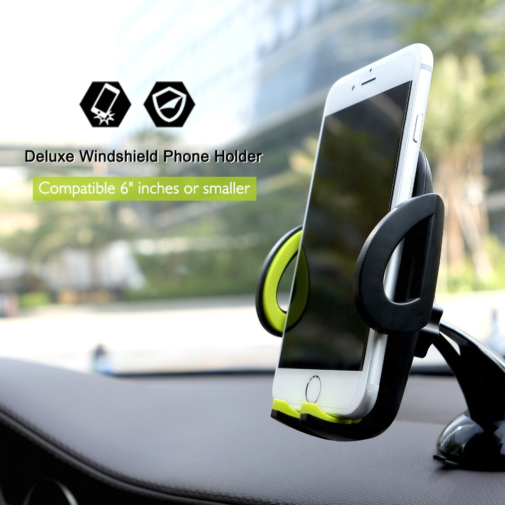 SUNEVER Mobile Car Phone Holder Stand Adjustable Support 6.0 inch 360 Rotate For Iphone 6 Plus5s LG HUEWEI MEIZU