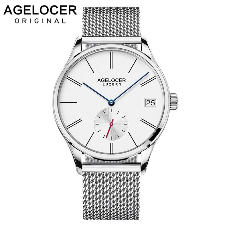 Agelocer montre homme de luxe suisse marque célèbre Relogio Masculino Sport d'affaires montre-bracelet mécanique multi-fonctionnelle analogique