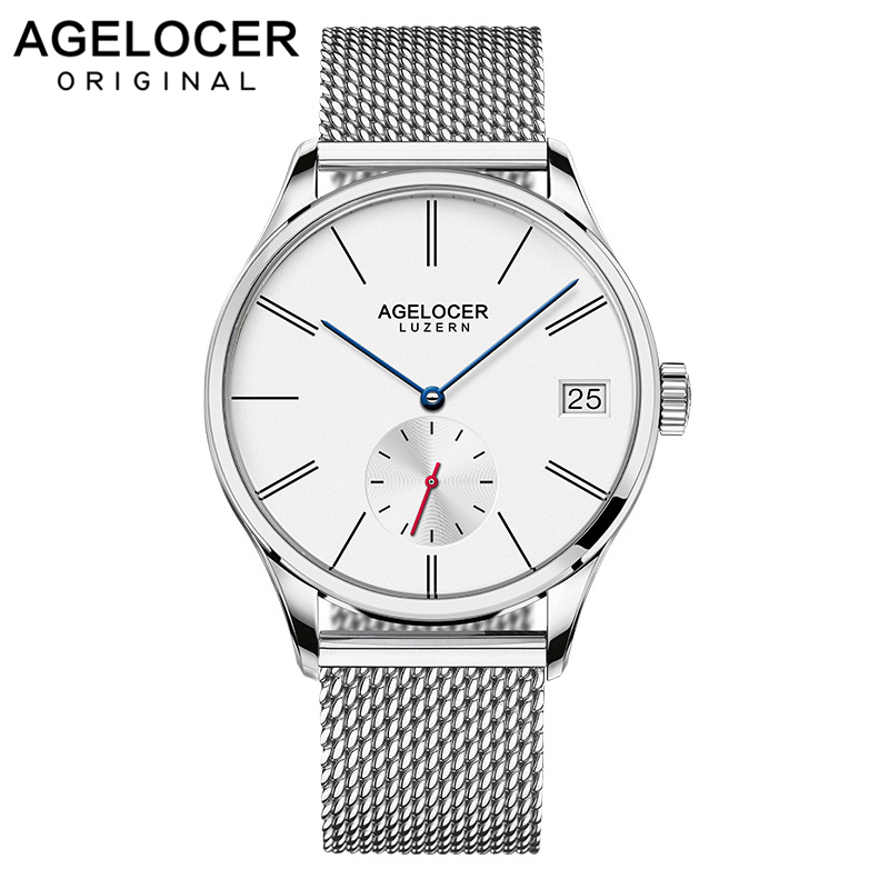 Agelocer Men Watch Swiss Luxury Famous Brand Relogio Masculino Business Sport Mechanical Wrist Watch Multi-functional Analog