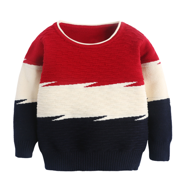 2017 Hot Fashion Brand Quality Kids Warm Christmas Snowman Boys Sweater Long Sleeve Sweater Toddler Boys Winter Sweater