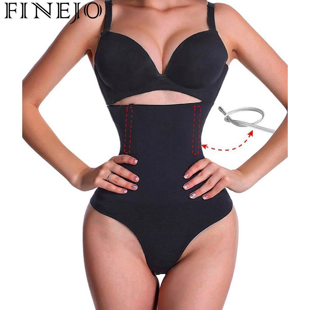 dbb31e6d76 FINEJO Hot Body Shaper Waist Trainer Belt Steel Boned Corset Women  Postpartum Belly Slimming Belt Modeling Strap Shapewear
