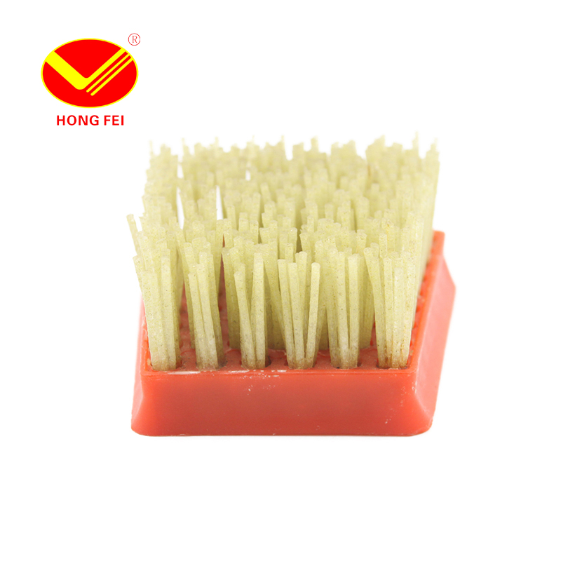 ФОТО HongFei Fickert Style Antique Brush 1 Piece Silicon Carbide and Resin Frankfurt Brushes for Granite Marble Surface Processing