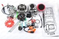 180cc 61 мм большого диаметра комплект A14 гонки Cam CDI катушки охладитель воздуха Охлаждающий вентилятор pd24j Карбюраторы для мотоциклов Для kymc ло