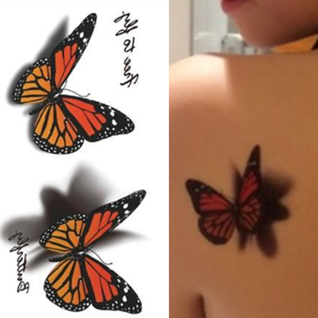 Us 039 3d Vlinder Tattoo Decals Body Art Decal Vliegende Vlinder Waterdicht Papier Tijdelijke Tattoo In 3d Vlinder Tattoo Decals Body Art Decal