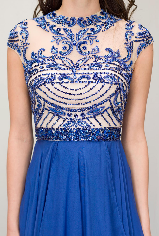 e94156aa Royal azul baile vestidos largos 2016 Sparkle gasa con espalda abierta Sexy  de noche Formal vestidos fiesta de graduación vestidos tallas grandes en ...