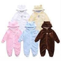 Детская одежда из кораллового флиса для девочек теплые мальчиков комбинезон осень-зима Bebe одежда для малышей Детские Детская одежда Одежда...