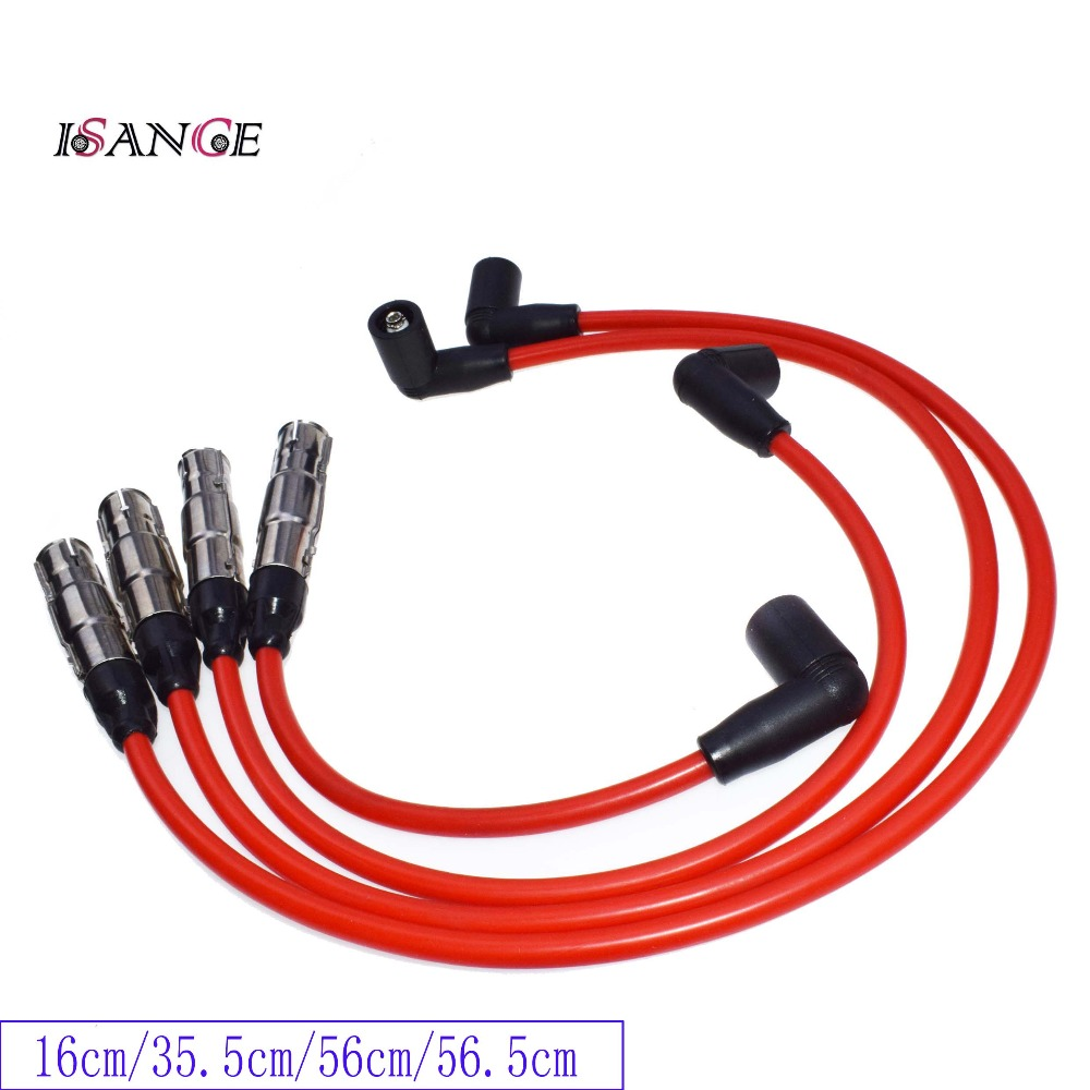 Isance Ignition Spark Plug Wire Set Std For Vw Beetle Golf