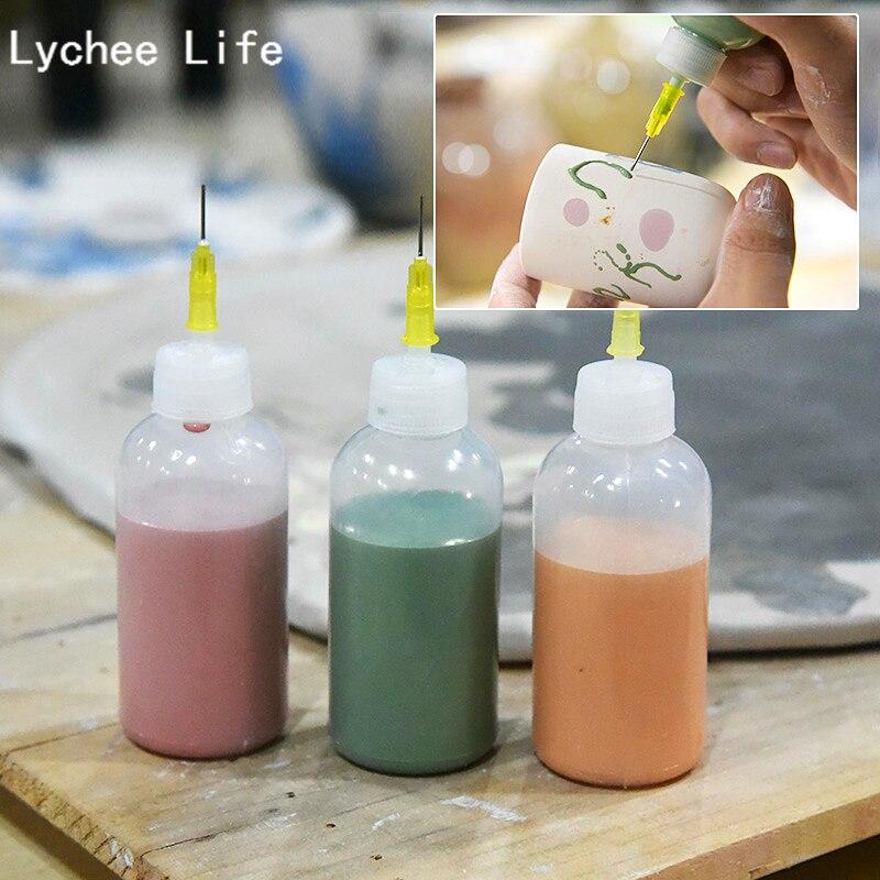 Lichia Vida 2 pçs/set Plástico Ferramentas Espremer Lama Cerâmica Garrafa Linha Ponto Decorativo DIY Ferramentas de Cerâmica