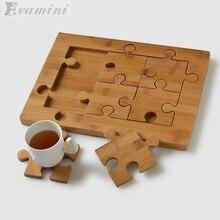1+6pcs Hot sale Creative Puzzle Coasters KungFu Tea set Natu
