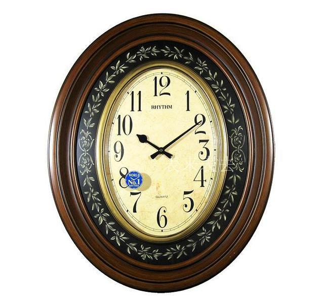 Authentic Anese European Clocks Large Oval Creative Wall Clock Beautiful Sound Quartz Living Room
