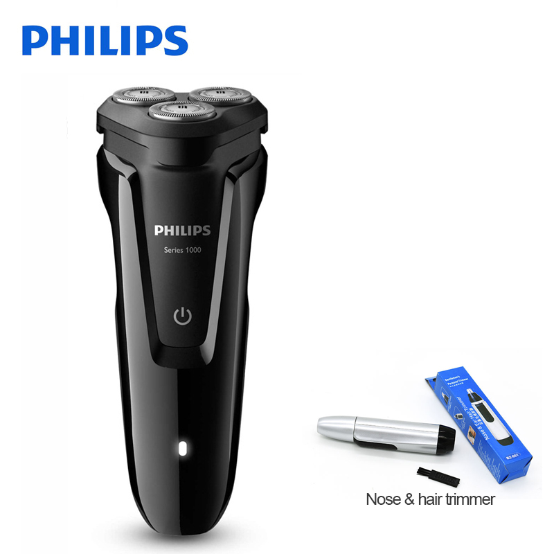 100% Genuine Philips Electric Shaver S1010 Rotary Rechargeable Washable With Three Floating Heads For Men's Electric Razor philips s551 electric double heads 3d shaver