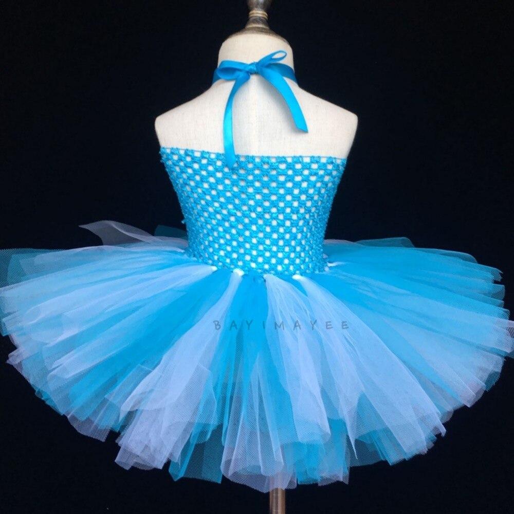 Aliexpresscom Buy Girls Turquoise Crochet Tutu Dress Baby Fluffy