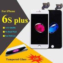 3D Pantalla Táctil Para el iphone 6 S Plus Pantalla LCD Táctil Asamblea digitalizador Pantalla LCD de Repuesto Para el iphone 6 S Plus Negro blanco