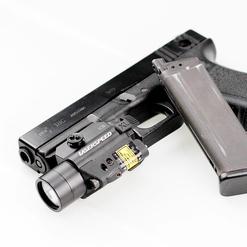 Laserspeed Self Defense Weapon Pistol Light Laser Drop Ship Air Weapons Tactical Light Picatinny Laser Ak 47 Accessories pistola de aire comprimido