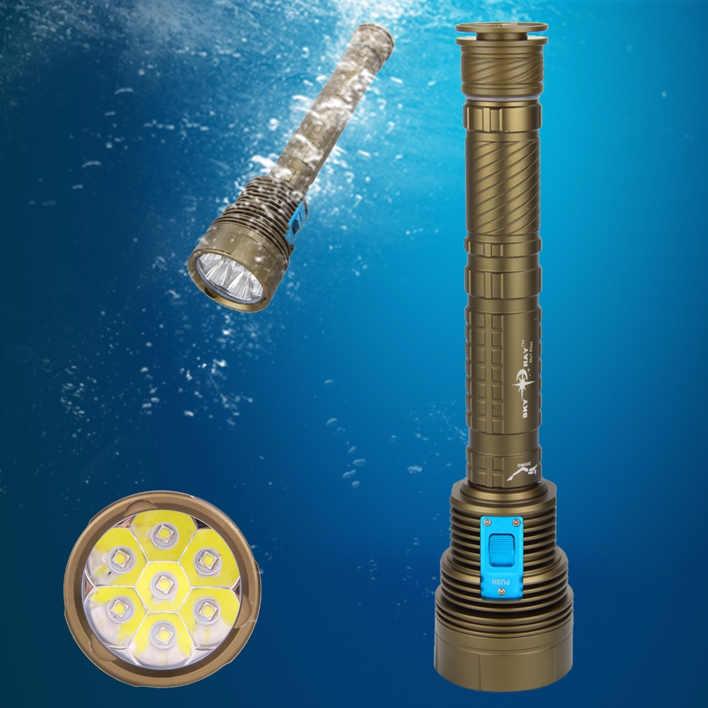 Waterproof Sporting Goods 12000LM 7x  XM-L2 LED SKYRAY Scuba Diving Flashlight Torch Light