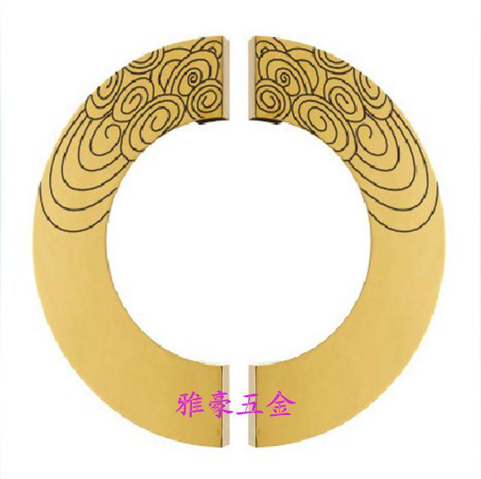 Резной узор полукруглый дверные ручки китайский антикварные деревянные дверные ручки современные стеклянные двери роскошные дверные ручк