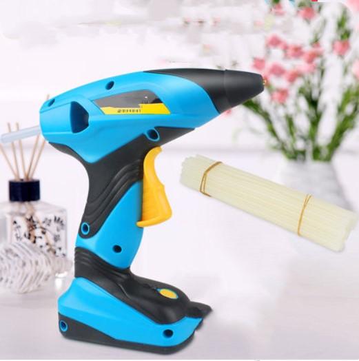Free Shipping Hot Melt Glue Gun Lithium Electric Charging Type Household Small Silica Gel Gun