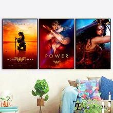 Wonder Woman Movie Figure Canvas Prints Modern Painting Posters Wall Art Pictures For Living Room Decoration No Frame