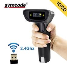 2D беспроводной сканер штрих-кодов, Symcode 1D/2D 2,4 ГГц USB беспроводной считыватель штрих-кодов с 100 метров (330ft) беспроводной Trnasfer расстояние