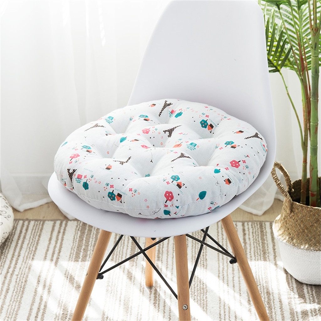 Image 2 - Chair Cushion Round Cotton Upholstery Soft Cushion Padded Office Home Car Seat Cushion decorative cushion chair pads kids-in Cushion from Home & Garden