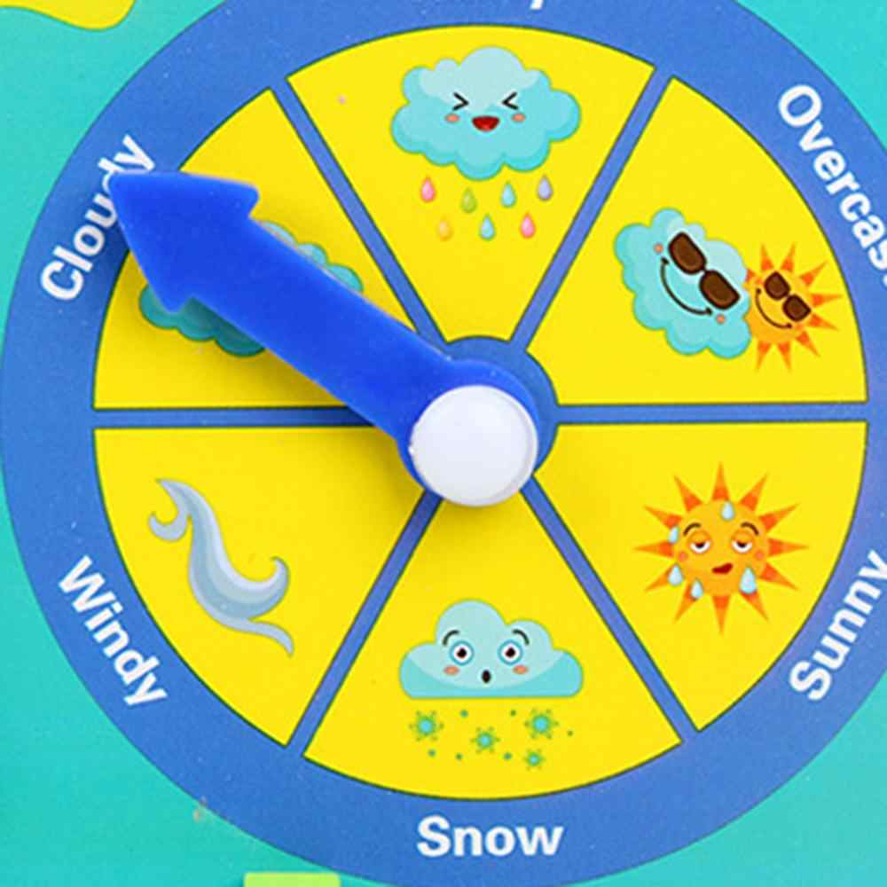 Ahsap Montessori Oyuncak Saat Takvim Hava Sezon Ay Bilissel Tahta