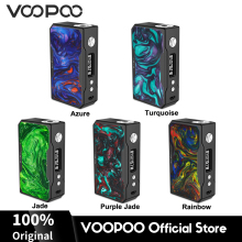 VOOPOO Drag 157W TC Box MOD Electronic Cigarette w/ GENE Chip fit 18650 Battery Vape Mod Box 157W Resin voopoo drag mini kit 117w resin vape box mod with uforce t2 tank p2 coil 4400mah built in battery gene fit chip vs drag 157w