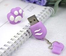 New Cartoon Cat Claw Usb flash drive 4gb/8gb/16gb/32gb cat's claw usb flash drive usb, pendrive/car/gift/disk ,64gb pen drives