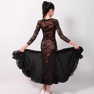 Image 5 - standard ballroom dress for kids ballroom dancing dress girls waltz dress fringe dance wear Spanish dress red Spain kids clothes