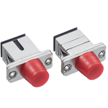 цена на 50pcs/lot SC FC Fiber Optic Adapter SC-FC Flange Coupler Adaptor Fiber Coupler