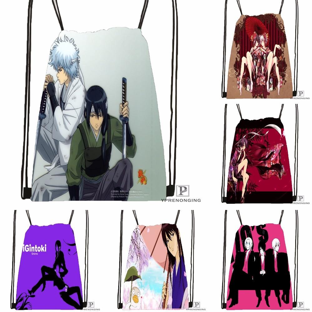 0bcfb1f04f6d 2019 Custom Gintama Sakata Gintoki Drawstring Backpack Bag Cute ...