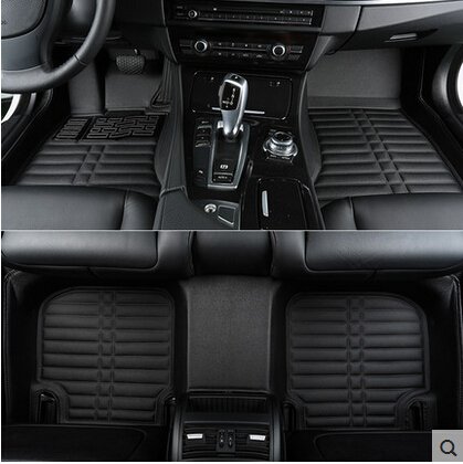 High quality! Custom special car floor mats for Peugeot 5008 5seats 2018 waterproof non slip carpets for 5008 2017,Free shipping