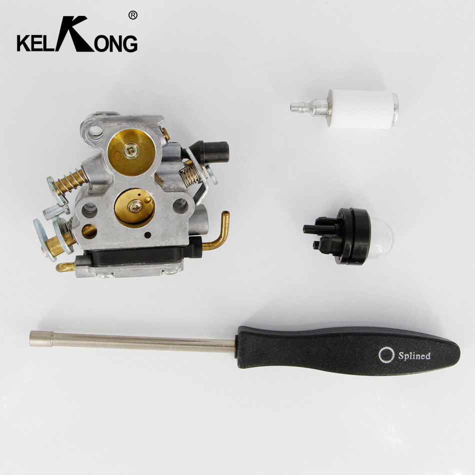 KELKONG Carburetor For Husqvarna 235 240 235e 236 236e 240e Chainsaw 574719402 545072601 With Screw Tool Primer Bulb Fuel Filter