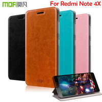 M Mofi For Xiaomi Hongmi Note 4X Case Flip Leather Stand Case For Xiaomi Redmi Note