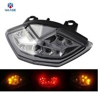 Waase traseira da motocicleta taillight cauda freio sinais de volta integrado led luz para kawasaki z1000 zr1000 2010 2011 2012 2013 light for light ledlight led light -