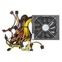 High Quality ATX PC 24 Pin Miner Power Supply for GPU Card Bitmain Antminer Mining Miner Power Supply Machine 1300W 1600W 1800W