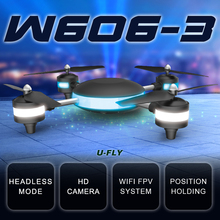 HJW606-3 WIFI Drone 4D Roll 2.4G 7.4V WIFI 2MP FPV RC Model Plane Aerial Quadrocopter with LED Light
