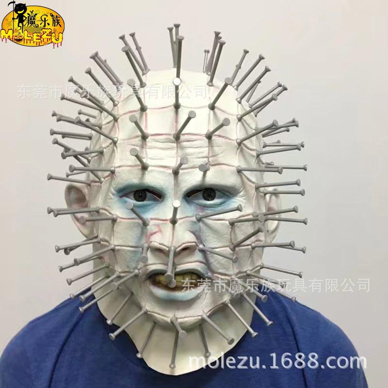 Haunting Hallows Hats Mask Zombie Hellraiser Nails Man ThreeZero Hell City Pinhead cosplay for Halloween Birthday Party