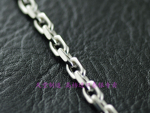 Italy imported new silver chain, 925 Sterling Silver Oval  Necklace section,