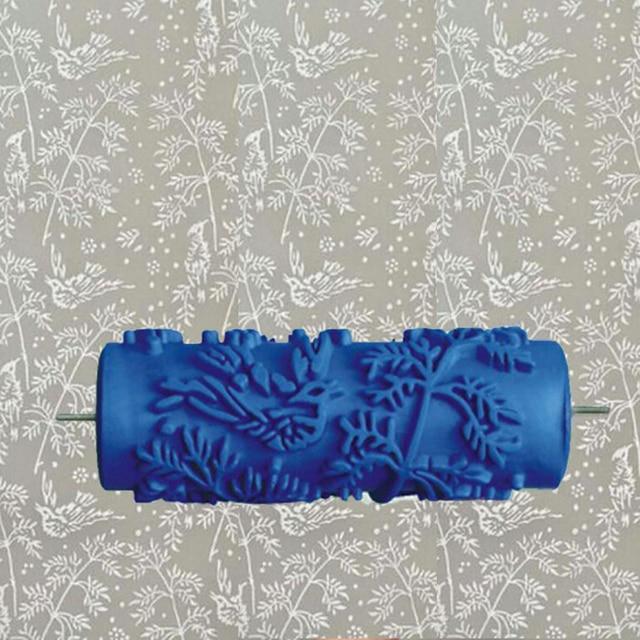 Agreable 5 Pouces Bleu Rouleau En Caoutchouc Décoration Murale Peinture Rouleau,  Mural Décoratif Rouleau De Peinture Nice Look