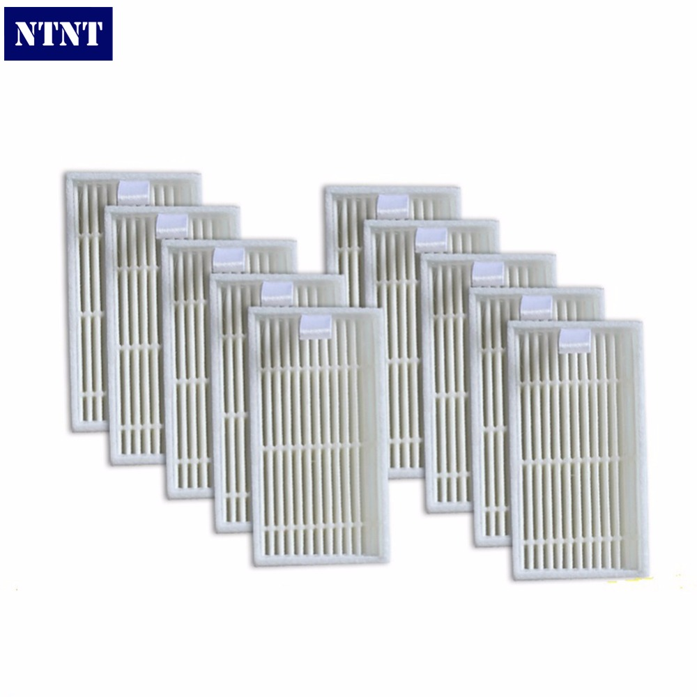 NTNT 10 pieces HEPA Filter for CHUWI V3 iLife V5 V3+ V5PRO Robot Vacuum Cleaner Robotic Vacuum Cleaner for Home