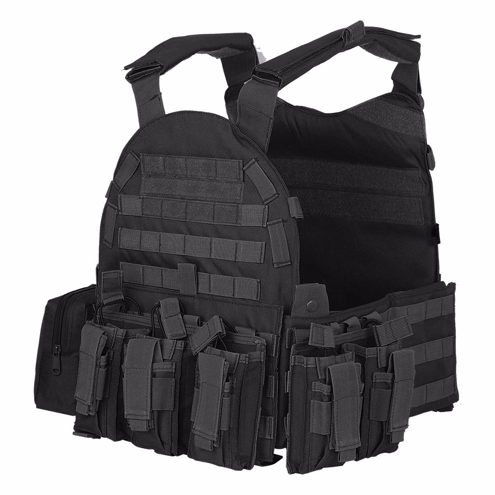 Phoenix 6094rs Style Quick Release Tactical Vest With Pouches Airsoft Painball Military Army Combat Gear Tactical Vest 100% Original Hunting Vests Sports Clothing