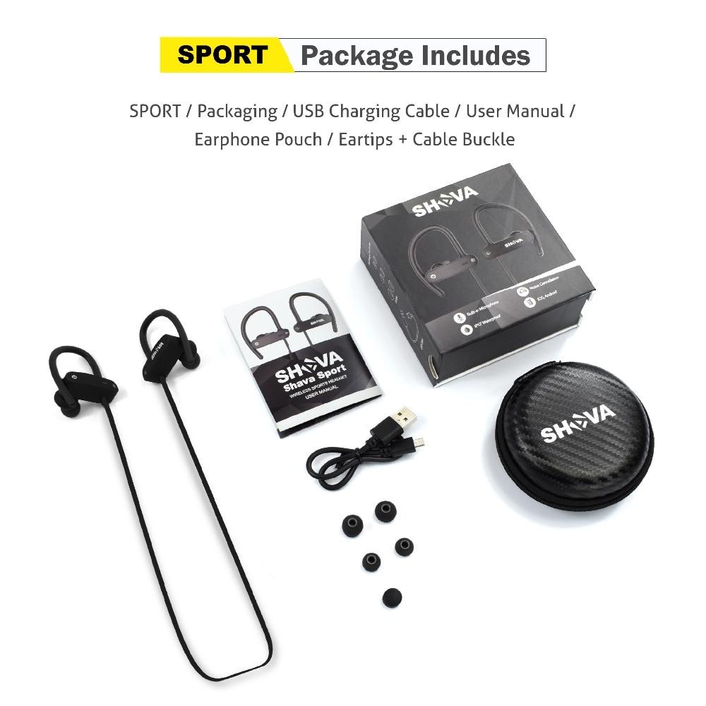 Купить с кэшбэком SHAVA  bluetooth headphones IPX7 waterproof wireless headset sports bass bluetooth earphone with mic for iPhone xiaomi V4.2